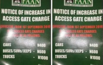 Airport 100% toll gate increase not effective in Lagos