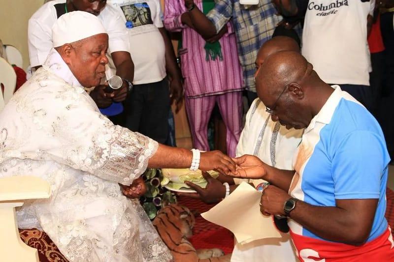 HRH Igbinidu praying for Obaseki ahead Edo election