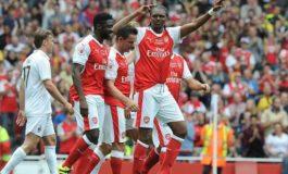 Kanu scores hat-trick as Arsenal legends defeat AC Milan legends (photos/video)