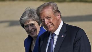 Donald Trump to meet Theresa May amid Brexit 'turmoil'