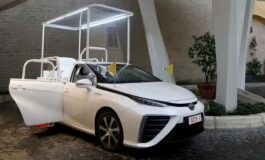 Hydrogen-powered Toyota Popemobile donated to the Holy See